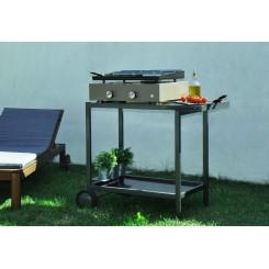 Plancha-Grill 2 Brenner mit emaillierter Stahlplatte